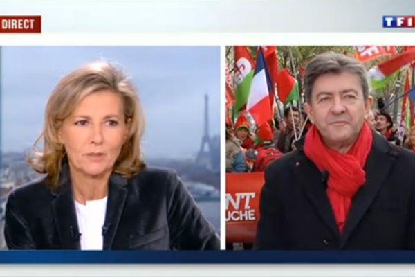 03/12/2013 Melenchon Chazal 1/12 capture TF1 930x620
