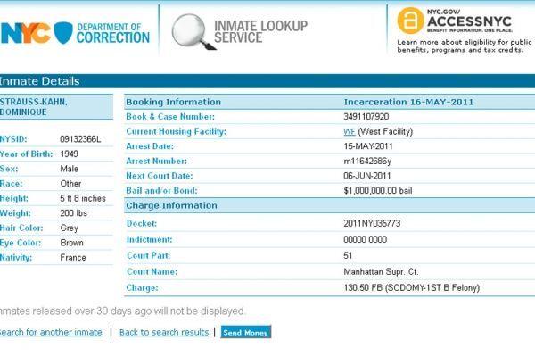 20.05 Pour faire un don à DSK, rendez-vous sur le site du département correctionnel de New York.  930620