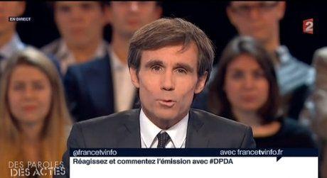 2013 Pujadas Twitter Des paroles et des actes capture France 2