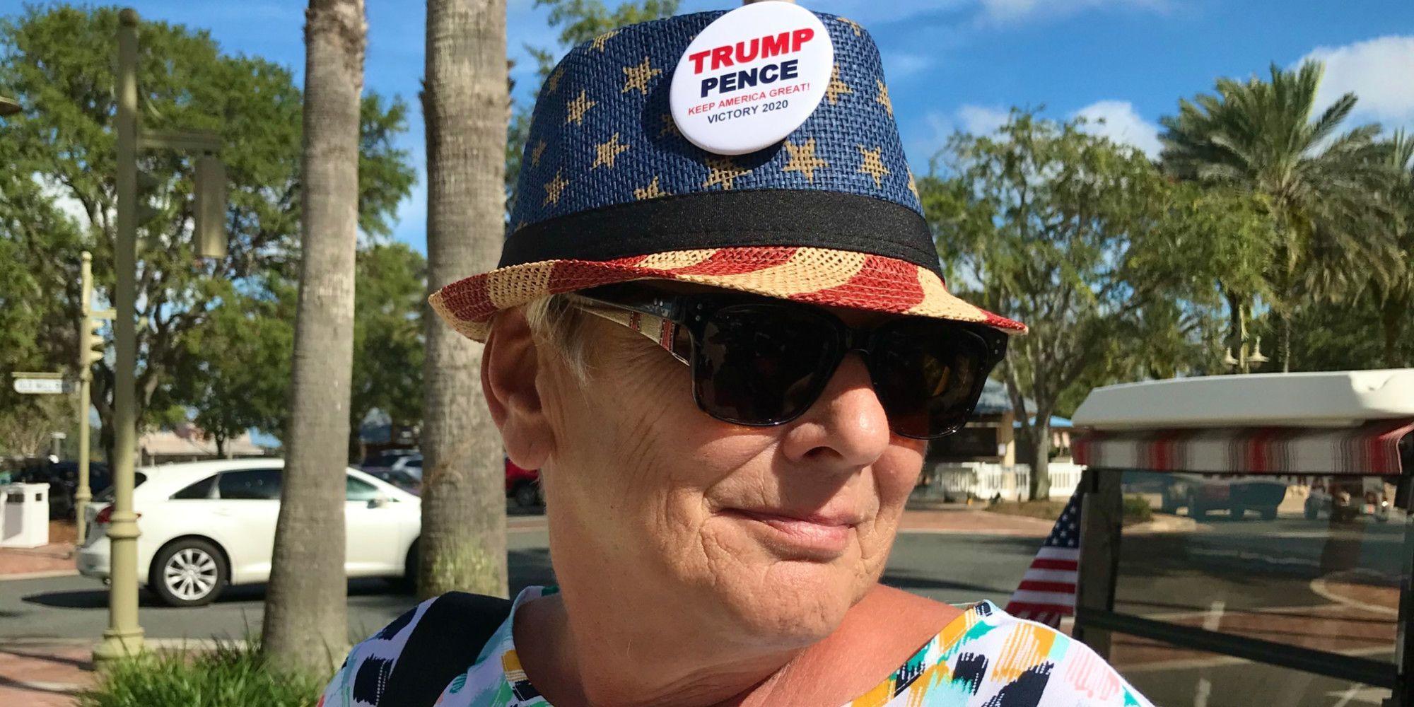"""Marjorie affiche son soutien pour le président sortant, """"la meilleure chose qu'il nous soit arrivée"""", assure-t-elle."""