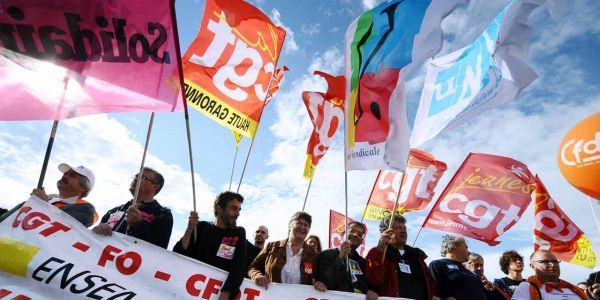 26.05.Syndicats.CGT.CFDT.Unsa.solidaire.ERIC CABANIS  AFP.1280.640
