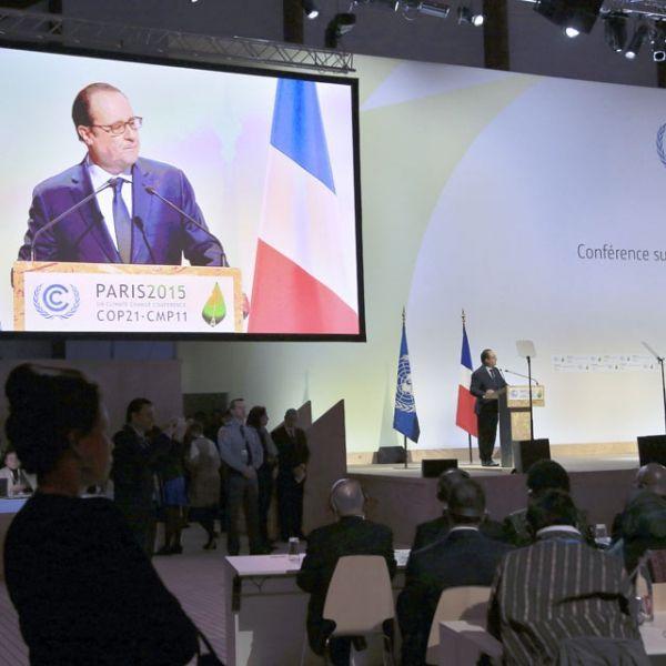 30.11.COP21 Discours Hollande.THIBAULT CAMUS  POOL  AFP.640.640