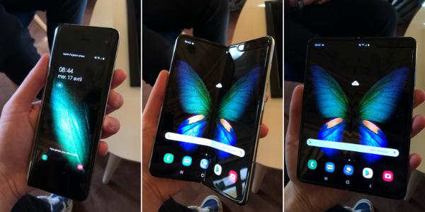 Le Samsung Galaxy Fold est un des premiers téléphones pliables commercialisés, en 2019.