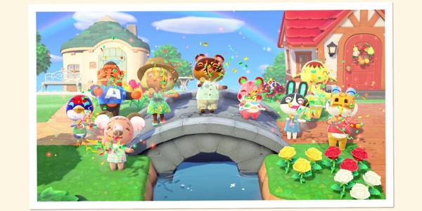 """Dans """"Animal Crossing : New Horizons"""", tout n'est que joie, bonheur et bienveillance (Nintendo)."""