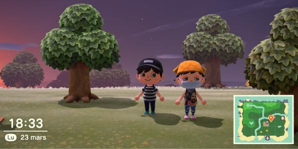 """Dans """"Animal Crossing : New Horizons"""", vous pouvez visitez les îles de vos amis grâce au jeu en ligne (Nintendo)."""