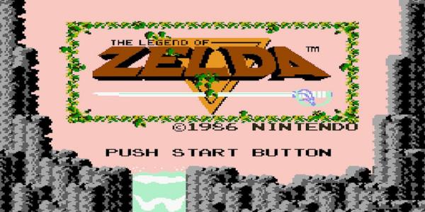 """Ecran-titre du jeu """"The Legend of Zelda"""", sorti en 1986."""