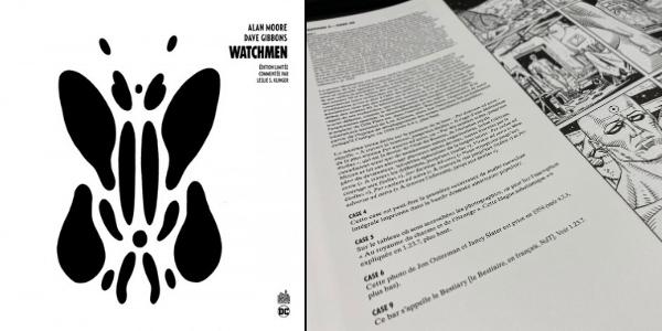 """L'édition limitée de """"Watchmen"""" comprend de précieuses annotations sur le dessin et le scénario."""