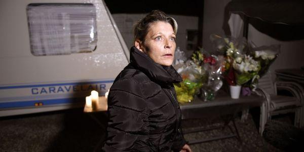 Adèle Vinterstein,dans son camp de gens du voyage, à Moirans, le 20 octobre 2015.