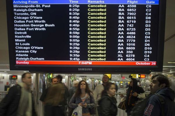 aéroport LaGuardia à New York, ouragan sandy