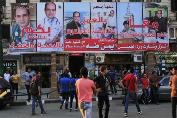 Affiches pour al-Sissi en Egypte