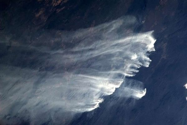 australie incendies depuis l'espace