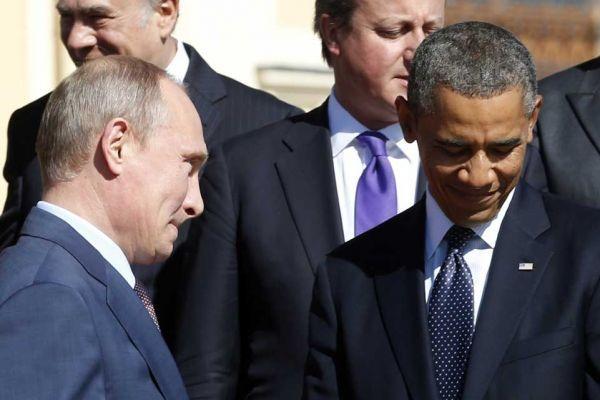 barack obama et vladimir poutine au G20 - 961-641 photo légende