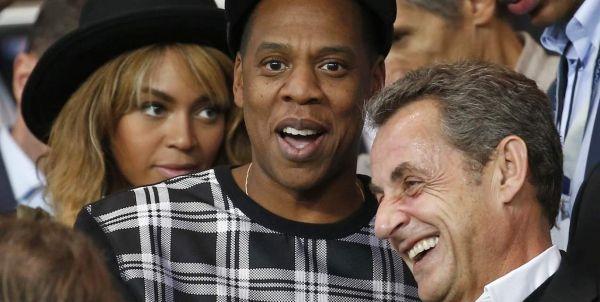 Beyoncé avec Sarkozy