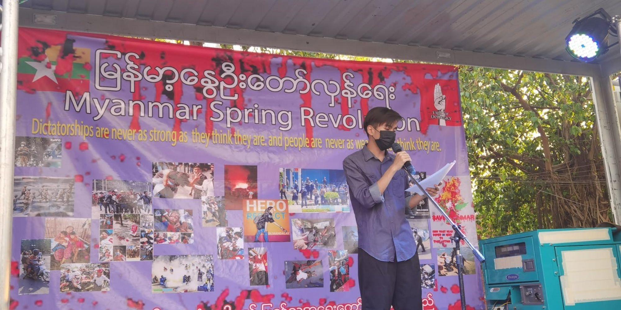 birmanie manif