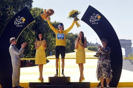 Bradley Wiggins après sa victoire sur le Tour 2012.