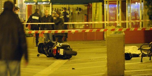 La scène de crime de l'assassinat de Sabri Brahimi, à Ajaccio