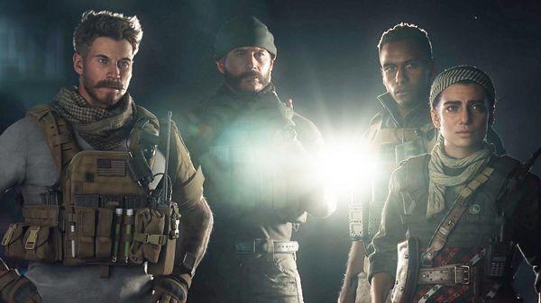 """De gauche à droite, les """"héros"""" de """"Modern Warfare"""" : Alex, le capitaine Price, le sergent Kyle Garrick et la commandante rebelle Farah Karim."""