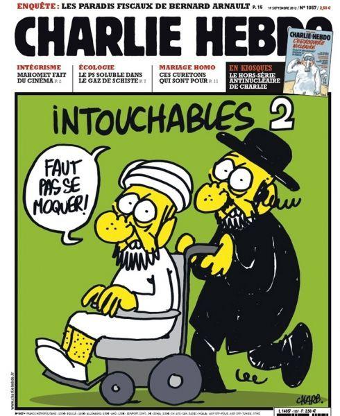 Caricature de Mahomet à la Une de Charlie Hebdo 2012