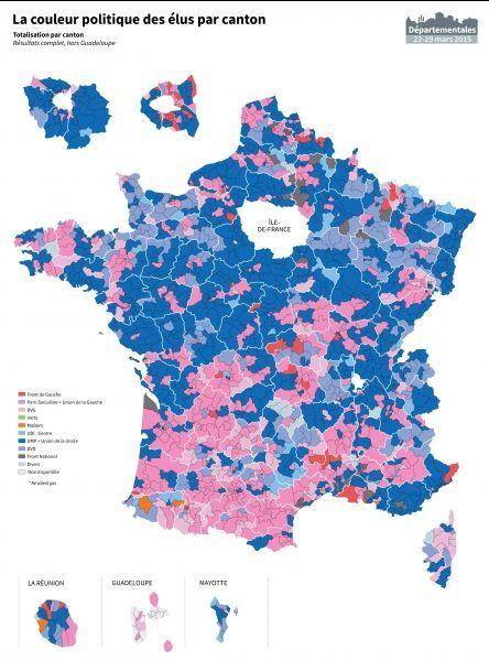 carte, cantons, départementales
