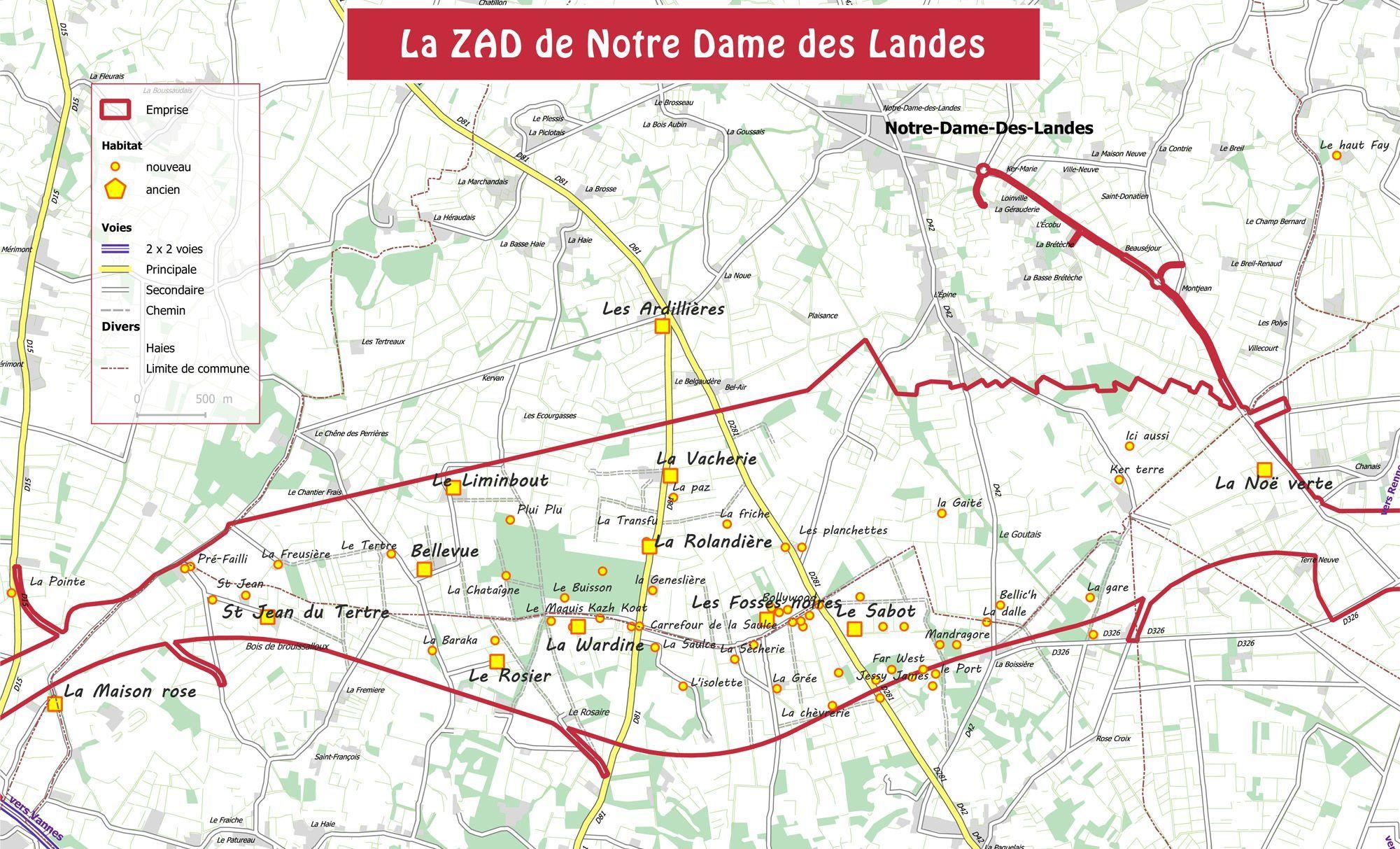 carte notre dame des landes Notre Dame des Landes : sur la ZAD, on prépare l'après