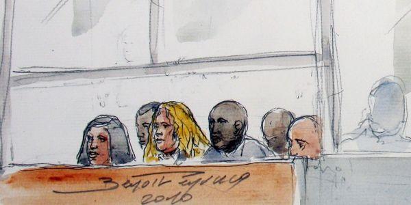 Des prévenus lors du procès d'Ilan Halimi