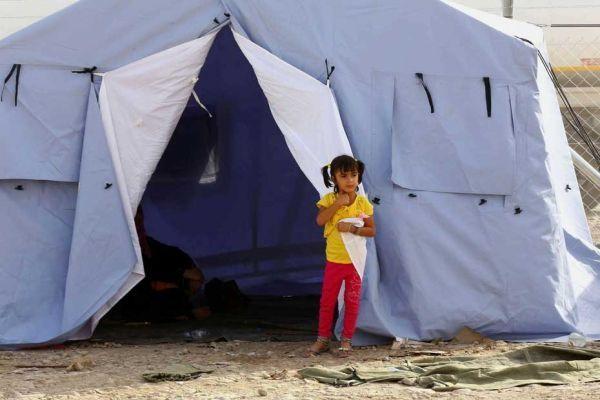 Des réfugiés irakiens de Mossoul