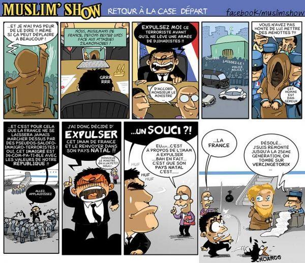 Dessin de la BD Muslim Show