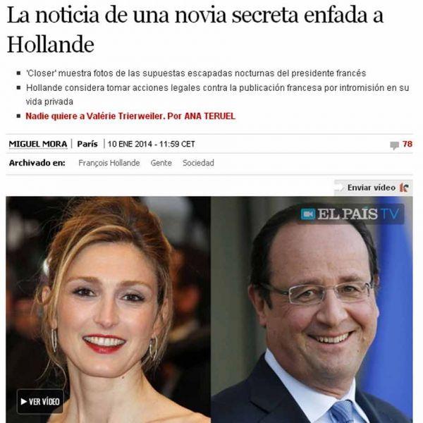 el pais sur Hollande, CAPTURE D'ECRAN