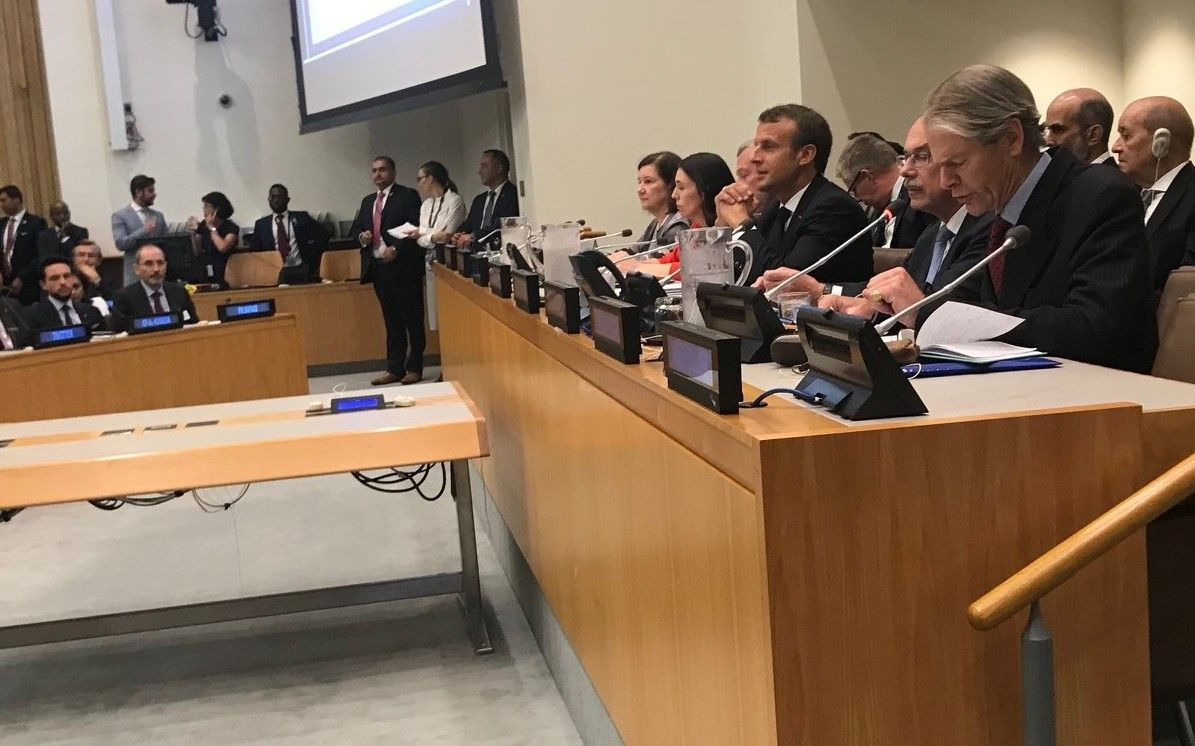 Emmanuel Macron à l'ONU en septembre 2019