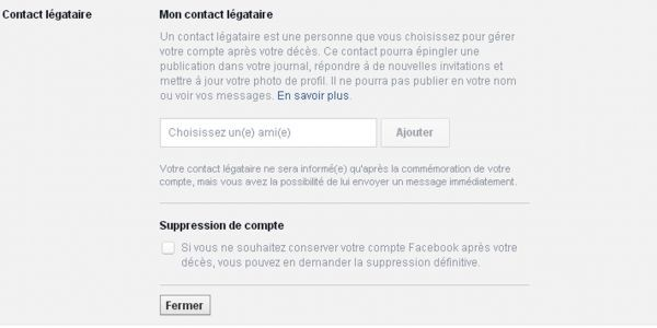 Facebook-légataire
