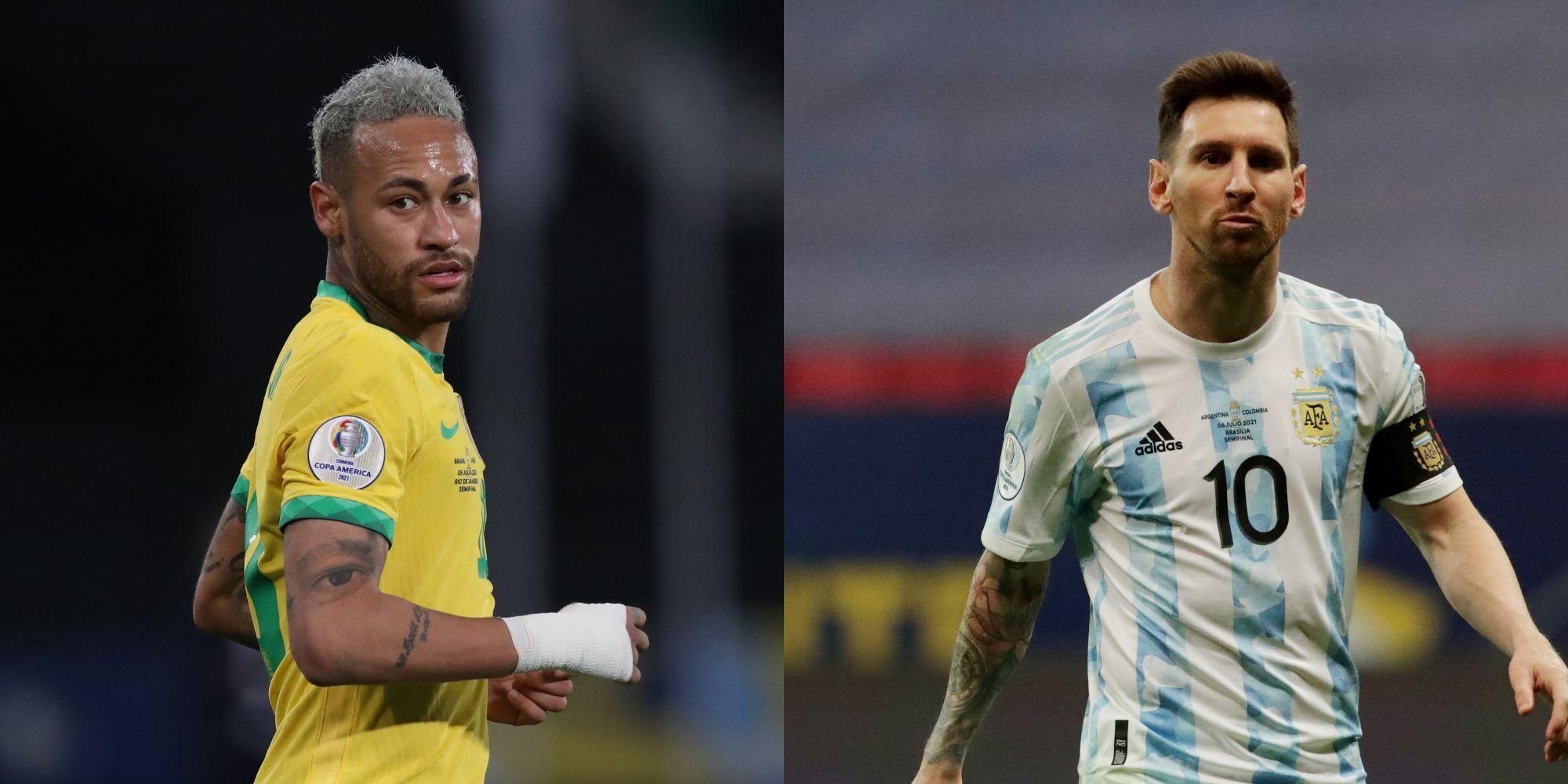 Neymar y Messi se miden en la final de la Copa América