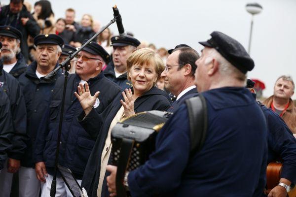 François Hollande Angela Merkel