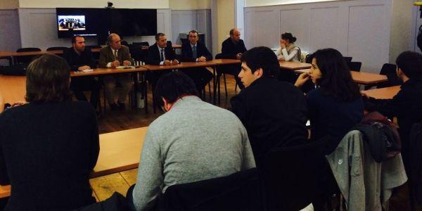 Jean-Guy Talamoni rencontre les leaders étudiants à Corte