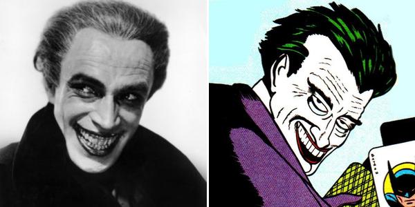 """Bob Kane et Bill Finger ont modélisé le Joker en s'inspirant de l'acteur Conrad Veidt dans """"L'homme qui rit""""."""