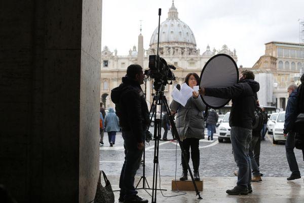 journalistes au Vatican