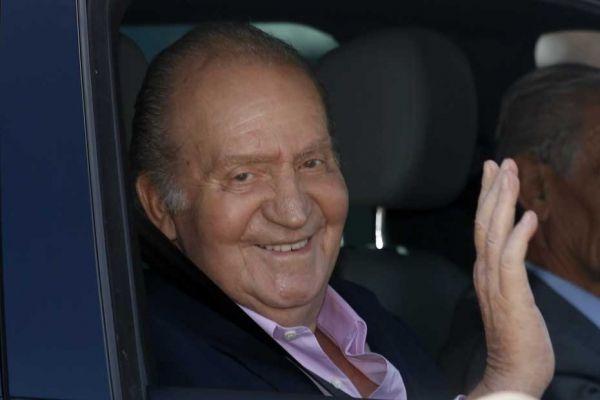 Juan Carlos à sa sortie de l'hôpital.