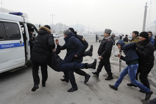 Kazakhstan police