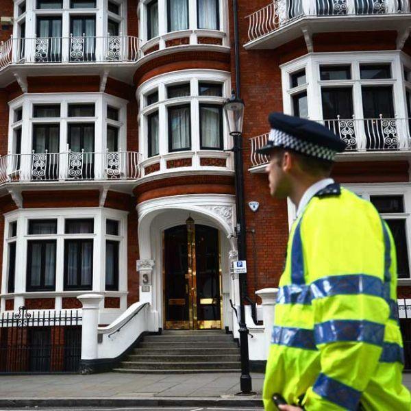 L'ambassade équatorienne de Londres.