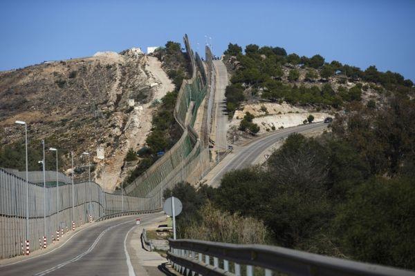 La barrière à Melilla