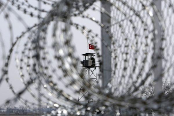 La barrière entre la Grèce et la Turquie