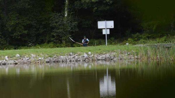 La gendarmerie a installé des rubalises et cherche le nourrisson près des étangs