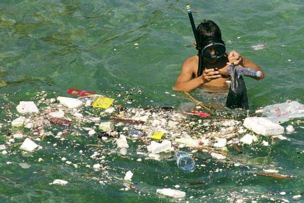 La Méditerrannée - ici, la côte libanaise - est particulièrement polluée.