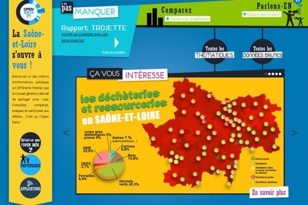 La plateforme d'Open Data de Saône-et-Loire est une référence