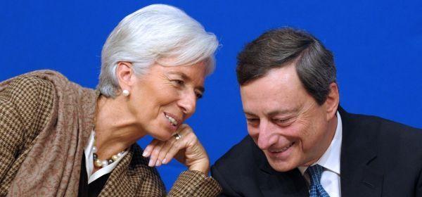 Lagarde Draghi FMI BCE AFP bandeau