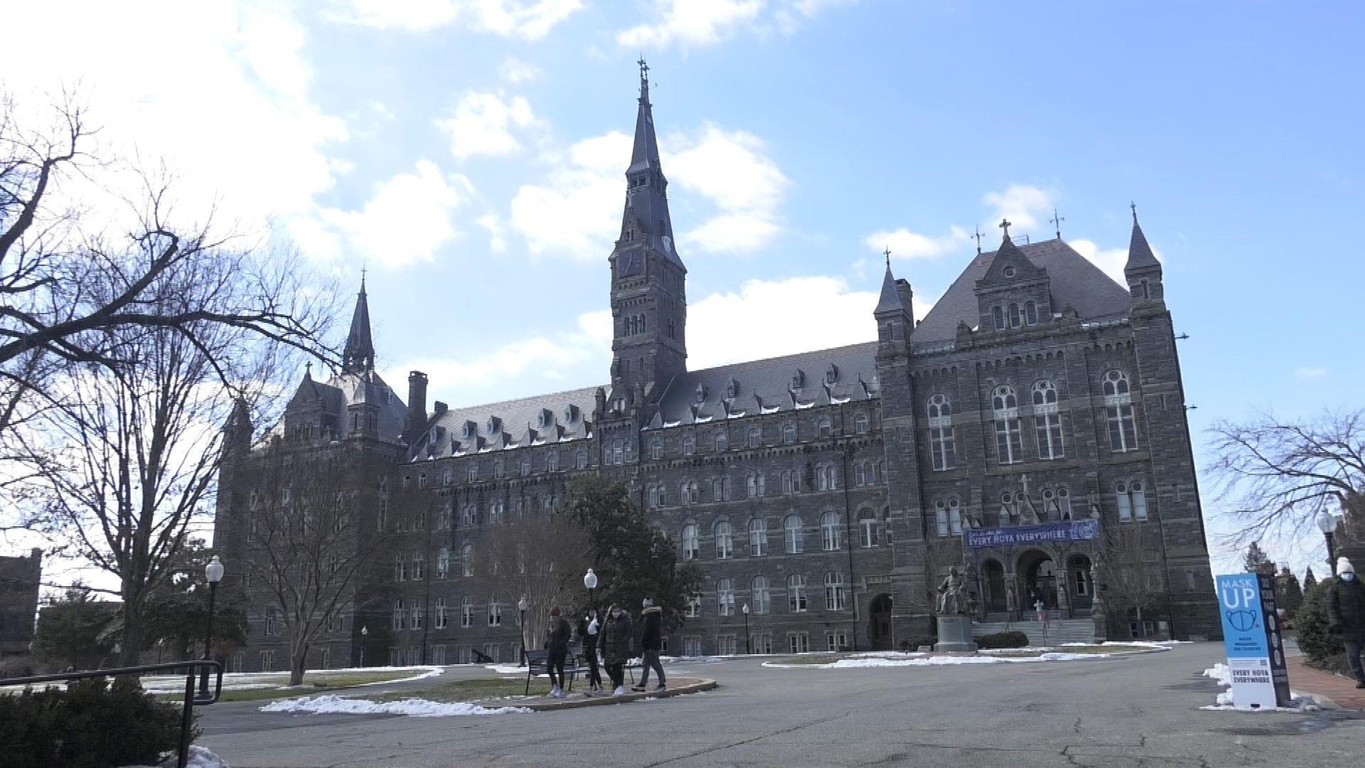 Le campus de l'université de Georgetown, à Washington DC