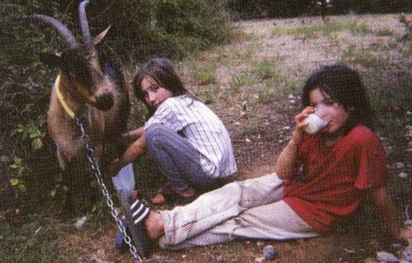 Les frères Fortin et leur chèvre, pendant la cavale