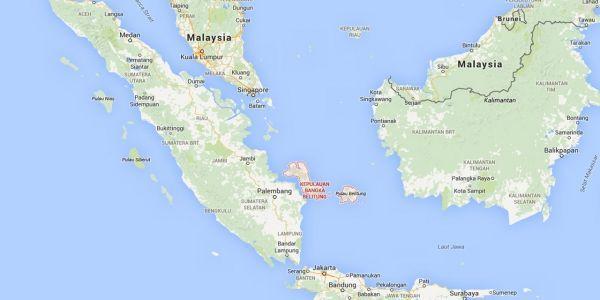 Les îles de Bangka et Belitung,