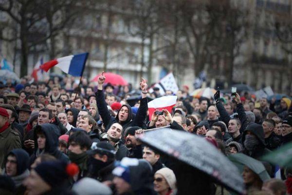 Les manifestants du jour de colère le 26 janvier
