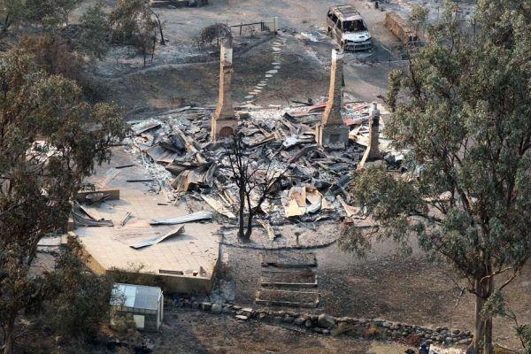 maisons détruites en Australie