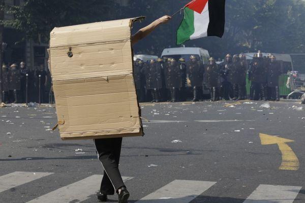 Manifestation Barbès Gaza Palestine Israël